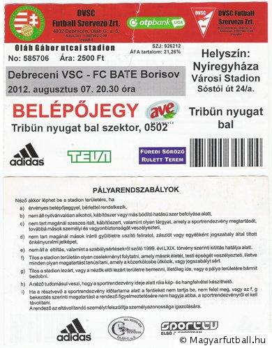 Debreceni VSC - FC BATE Borisov 80d22dacec