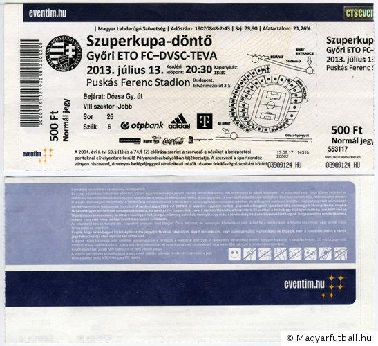 mérkőzés  Debreceni Vasutas SC-TEVA - Strømsgodset IF · belépőjegy  Győri  ETO FC - Debreceni VSC-TEVA c3857ac13c