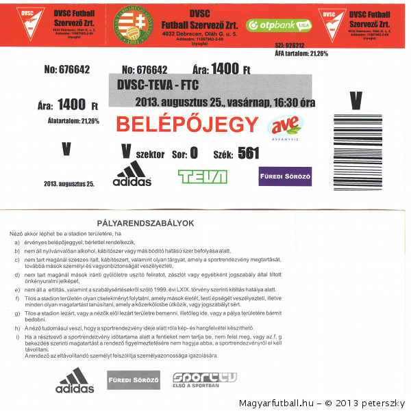 belépőjegyek   bérletek (2013) • Magyarfutball.hu eff758c8f0