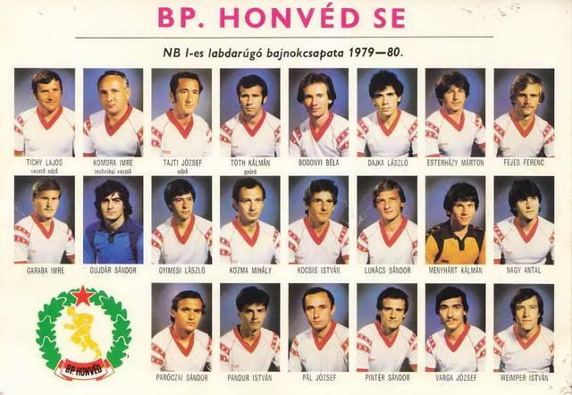 """Képtalálat a következőre: """"bajnok a honvéd 1980"""""""